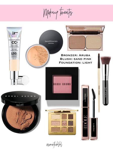 Makeup favorite // foundation in light blush in sand pink Aruba in bronzer   #LTKunder50 #LTKbeauty #LTKunder100