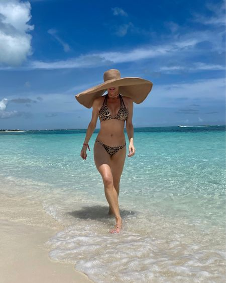 Oversized floppy summer sun hat on repeat. How did I pack it? It rolls into a ball to throw in your luggage & gives you a ton of shade and coverage plus rattan is super in this Summer #ltkhats #ltksummer   #LTKunder50 #LTKswim #LTKtravel