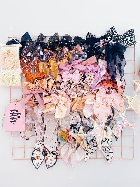 Halloween bows, bow storage, Halloween decor  #LTKkids #LTKHoliday #LTKSeasonal