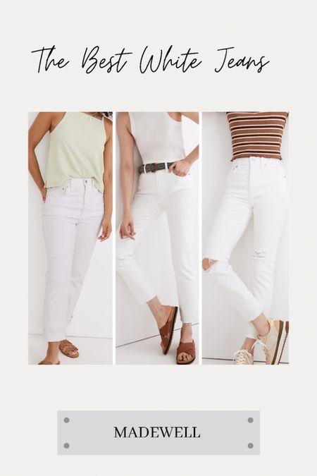 The best white Jeans from Madewell! http://liketk.it/3iqru @liketoknow.it    #liketkit #LTKstyletip #LTKtravel #LTKworkwear