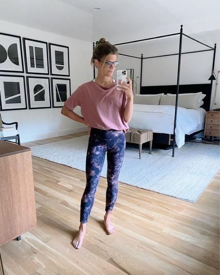 Wearing lululemon align leggings in diamon dye graphite grey/pink pastel (size 4 ) and t shirt (size 4)  http://liketk.it/3hOkT @liketoknow.it #liketkit