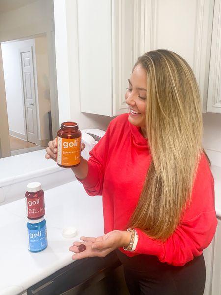 Fabletics hoodie Red hoodie Goli code: haleyparkerstyle  Victoria Emerson design bracelets White kitchen  Long hair Hair flat iron straightener   #LTKstyletip #LTKbeauty #LTKunder100