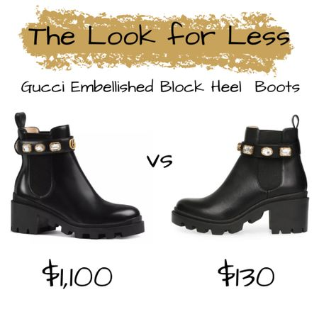 The Look for Less: Gucci Embellished Block Heels. Link in the bio!  {CH 👸🏾}  Follow me on the @liketoknow.it  shopping app to get the product details or on our 'Shop Instagram' page in the bio.   Direct Link: http://liketk.it/33ObS #liketkit