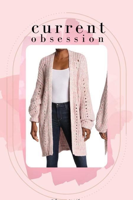 Free people cardigan on sale. Pink cardigan. Plus size friendly. I wear xl.   #LTKSeasonal #LTKsalealert #LTKunder100