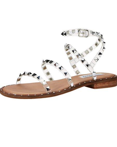Steve Madden clear travel sandals on sale on Amazon! Less than $42.   #LTKunder50 #LTKsalealert #LTKshoecrush
