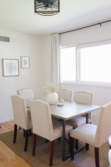 Dining room with simple fall decor   #LTKhome #LTKSeasonal #LTKstyletip