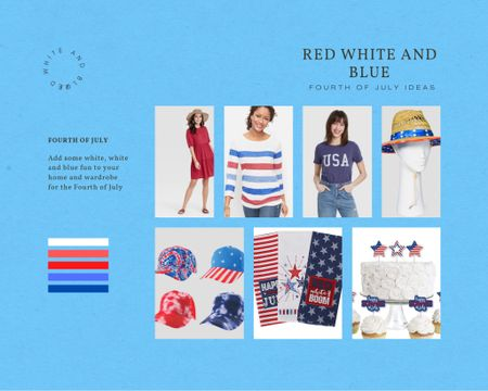 Add some red, white and blue fun to your home and wardrobe for the Fourth of July. Keep on using it all summer to show  your support for Team USA in the summer Olympics http://liketk.it/3ihL3 #liketkit . @liketoknow.it #LTKunder50 #LTKhome #LTKstyletip
