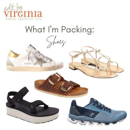 Travel Shoe Roundup!  My favorite shoes for travel! ON running shoes, Arizona Birkenstock's, Tevas, Golden Goose sneakers, J.Crew sandals, Nordstrom summer finds, summer sandals, #nsale http://liketk.it/3jNSA #liketkit @liketoknow.it    #LTKtravel #LTKstyletip #LTKshoecrush