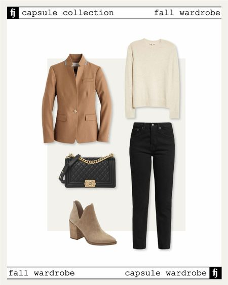 Fall capsule wardrobe #blazer #sweaters #booties #fallcapaulewardrobe #falloutfits   #LTKstyletip #LTKunder100 #LTKsalealert