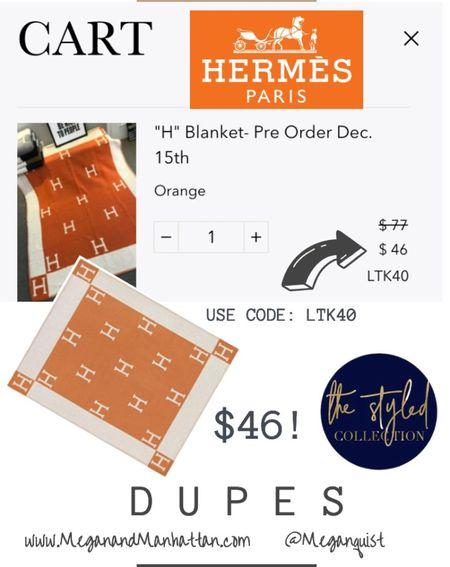 My favorite time of the year! Hermes Avalon throw inspired   #LTKunder100 #LTKhome #LTKDay