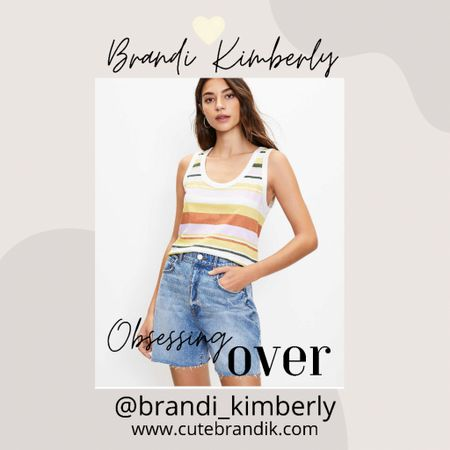 This tank is super cute! I adore the stripe details and the crop look.  It is a great for transitioning into fall   #LTKSeasonal #LTKstyletip #LTKbacktoschool