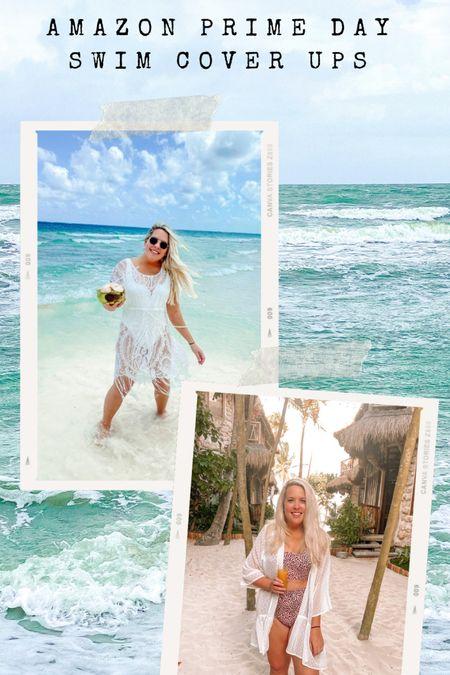 These two swim cover ups are included in Amazon Prime Day! Bathing suits, Amazon swimsuits, Amazon finds, high waisted bikini, Amazon fashion #liketkit #LTKsalealert #LTKstyletip #LTKswim @liketoknow.it http://liketk.it/3i6Ak