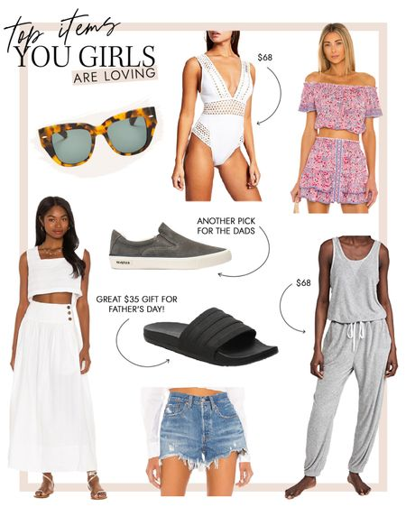 Swimsuits, comfy lounge, gifts for dad , matching sets and budget friendly denim made the top sellers this week @liketoknow.it #liketkit http://liketk.it/3hsFb #LTKunder100 #LTKstyletip #LTKswim