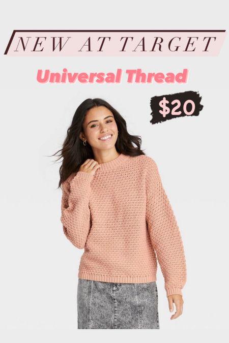 Universal Thread Pullover Crewneck in Blush  Target fashion, Target finds, fall outfits, sweaters  #LTKunder50 #LTKstyletip #LTKunder100