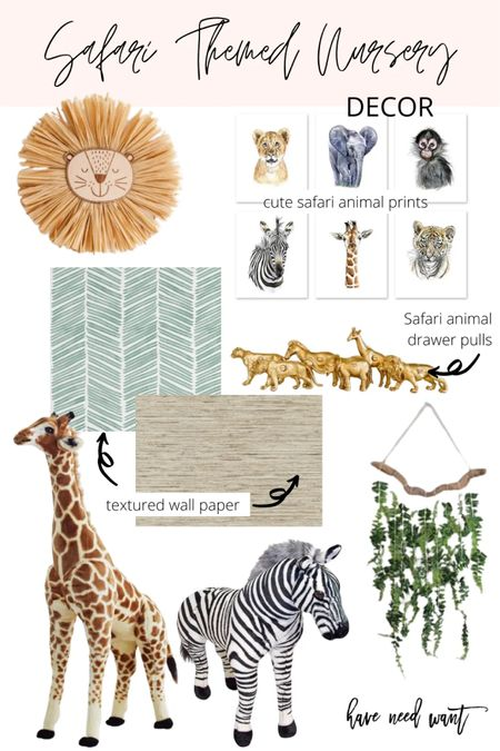 I'm getting so excited to start redecorating Mason's room to be Safari animal themed for him and baby brother! The nursery side will have some surprise elements that I'm getting my dad to help me with. I can't wait to have their closet  finished. Anyway I wanted to share the nursery mood board again since so many seemed to be shopping for something similar.   #LTKhome #LTKkids #LTKbaby
