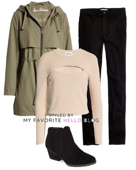 Fall outfit with okive jacket and black jeans   #LTKstyletip #LTKSeasonal #LTKunder100
