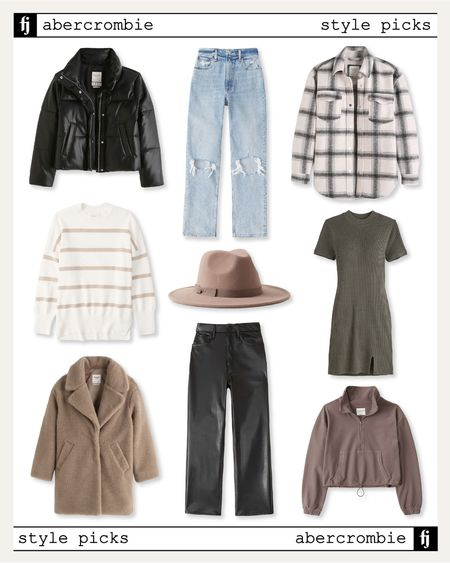 New style picks from Abercrombie - all on sale during the #ltksale. Loving these colors to transition to fall. #fallfashion #falldresses #shacket #leatherpants #falloutfit  #LTKsalealert #LTKunder100 #LTKSale