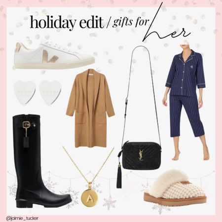 Holiday Edit: Gift Guide ideas and gifts for her! | #giftguide #ggforher #holidaygifts #womenholidaygifts #holidaygiftguide #crossbodybag #vejasneaker #momgifts #cozyslippers # #JaimieTucker  #LTKworkwear #LTKstyletip #LTKGiftGuide