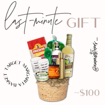 A super easy last-minute Target gift idea! All of this can be purchased in-store. Depending on what you choose to add, this gift basket can be anywhere from $50-$100!   Don't forget to save this post for when you need it! ❤️  Perfect for any birthday, going away party, housewarming party or if you're the best party guest + want to surprise the host! Don't forget a cute card for the occasion 🥳  Shop my daily looks by following me on LIKEtoKNOW.it!! 🎯 http://liketk.it/3jB46 #liketkit @liketoknow.it #LTKunder100   easy gift basket, last minute gift idea, last minute gift basket, target gift idea, easy gift basket under 100, easy gift basket under 150, 50 gift basket, 100 gift basket, margarita gift basket, college party gift, housewarming gift, housewarming gift ideas, housewarming gift basket, drink gift basket, wine gift basket, last minute gift under 100, last minute gift under 50, target gift basket, target gift in store, in store last minute gift, birthday gift basket, going away party gift, going away party gift basket, party host gift, party guest gift, going away party gift basket, college gift basket, college care package, college gift ideas, care package basket, care package idea, drink care package, food care package, Mexican party gift, fiesta gift, Mexican fiesta, margarita lover, margarita gift, alcohol gift basket, alcohol gift idea, margarita gift idea, one store gift basket, diy gift basket, diy care package, foodie gift idea, foodie gift basket, target gift under 100
