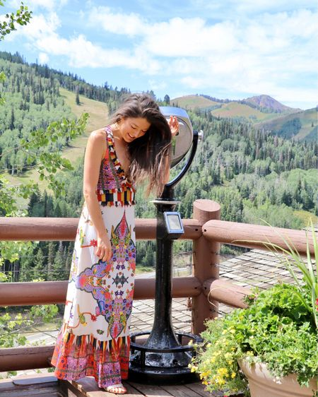 I could look at this view all day. :) And i love this @anthropologie dress! Get yours in the link in my story! ON THE BLOG: UTAH HERE WE COME  👉🏼 Link in Bio! 👉🏼BeautyBeyondBones.com #edrecovery #recovery #catholic #anarecovery #anorexiarecovery  #realrecovery #blog #travel #style #jesus #plantbased #healthyliving #christian #blogger #god #wanderlust #mountains #edfam #ootd #healthyfood #parkcity #utah #vegan #deervalley #nyc #healthyeats #glutenfree #steineriksen http://liketk.it/2x6Fv #liketkit @liketoknow.it @lilypulitzer