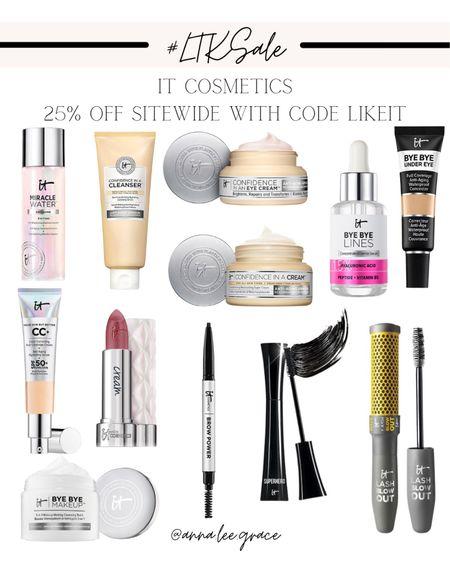 #LTKSALE - It Cosmetics, 25% off with code LIKEIT   #LTKSale #LTKbeauty #LTKsalealert