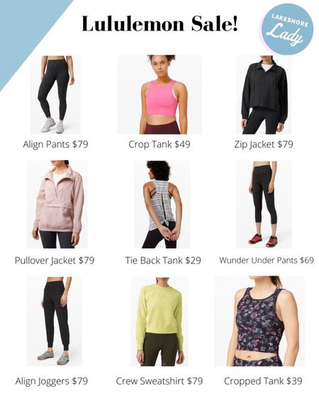 Lululemon is having a sale - and there are SO MANY GOODIES! I am usually a size 6 in their pants (fits like a small) and size 4 in tops (fits like an XS). No code needed!   #LTKsalealert #LTKfit #LTKunder100