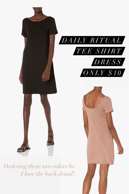 Gorgeous everyday tee shirt dress from Daily ritual! Amazon fashion prime day deal dress for only $10!   #LTKstyletip #LTKunder50 #LTKsalealert