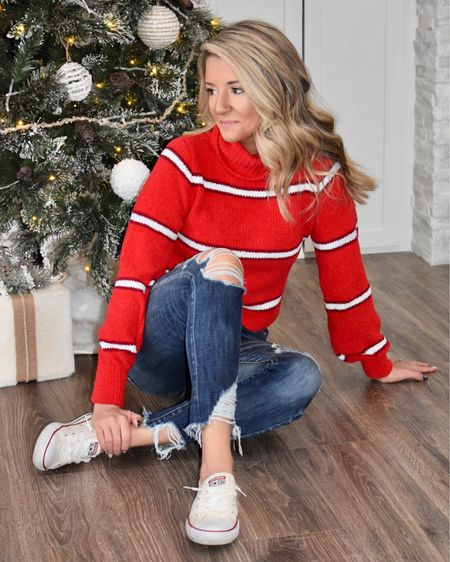 Do you have your holiday outfit yet? 💃🏻 This week I'll be sharing 4 different holiday look options! The pieces can all be mixed & matched in so many different ways. Today's look is comfy/casual & the sweater is just $14 today! Link in bio to shop! • • • #champaignurbana #chambana #midwest #midwestblogger #cublogger #chambanamoms #holidaystyle #holidaylooks #holidaycasuallook #casualchristmas #christmasstyle #holidayoutfit #giftsforher #ltk #ltkstyle #ltkunder50 #ltkunder25 #ltkgiftspo #targetstyle http://liketk.it/33PSe #liketkit @liketoknow.it