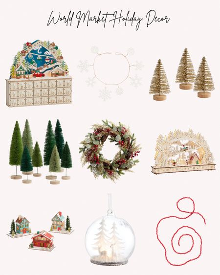 Holidays, Christmas, world Market, decorations, home decor, advent calendar, trees, villages, garlands, wreaths, ornaments   Follow me for more ideas and sales.   Double tap this post to save it for later    #LTKhome #LTKHoliday #LTKSeasonal
