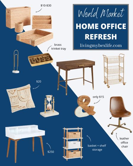 Home office refresh with Cost Plus World Market. Refresh your work-from-home space with these modern finds from World Market.   #StayHomeWithLTK #LTKhome #LTKunder50
