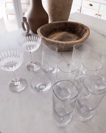 Drinking glasses, wine glasses, cocktail glasses, vases, StylinAylinHome   #LTKunder100 #LTKstyletip #LTKhome