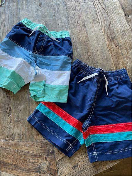 Boys swim trunks 40% off and under $30 for top quality Hanna Andersson   #LTKunder50 #LTKswim #LTKSeasonal