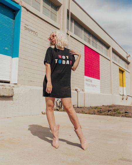Every day mantra 🤚🏼   http://liketk.it/2AzZU #liketkit @liketoknow.it #LTKunder100 #LTKstyletip #LTKshoecrush #bigmood #tararrized #lifeincolor #dallasblogger #fortworthblogger #dfwwomen #shirtdress #cowboyboots #pinkboots #graphictee #fashionforward #howtowear