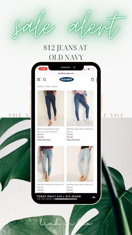 $12 Jeans? Yes please! Today only sale at Old Navy!    #LTKsalealert #LTKSeasonal