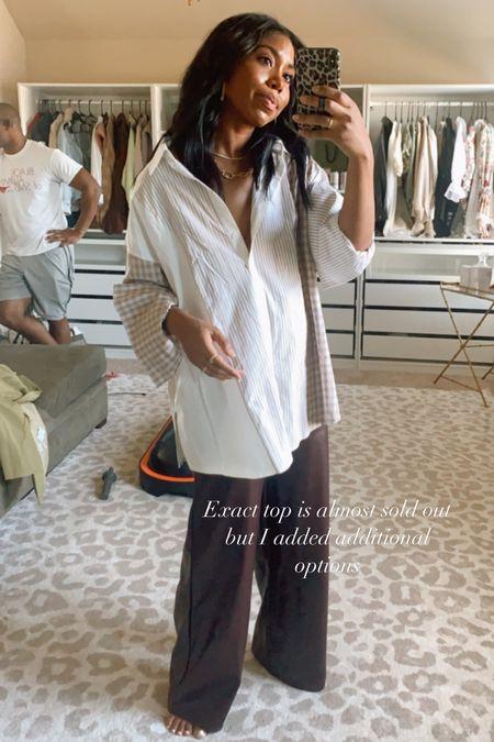 Work wear, fall fashion, faux leather pants