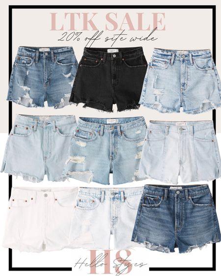 Jean shorts Sale  Abercrombie   http://liketk.it/3hjAv #liketkit @liketoknow.it #LTKsalealert #LTKDay #LTKunder100