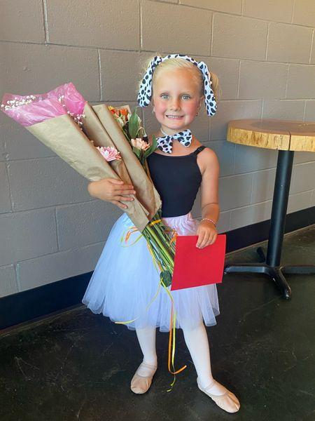 Dalmatian dog tutu costume little girls dance outfit pink tights pink ballet shoes   #LTKfamily #LTKunder50 #LTKkids