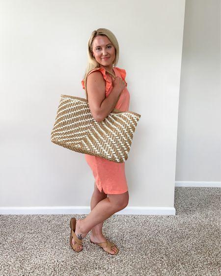 Target Dress, Sandals and Beach Tote   http://liketk.it/3hHgd #liketkit @liketoknow.it #LTKunder50 #LTKtravel #LTKstyletip