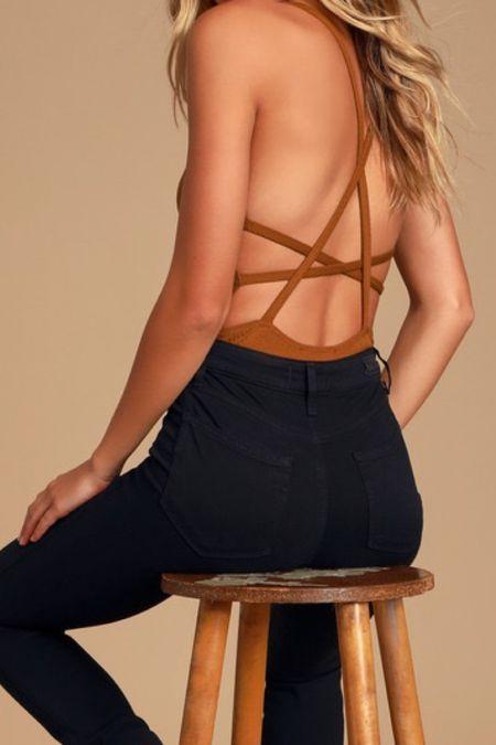 Cross back sexy bodysuit   #LTKstyletip #LTKSeasonal #LTKtravel