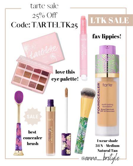 tarte 25% off plus free shipping with code TARTELTK25 #anna_brstyle  #LTKbeauty #LTKSale