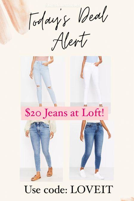 $20 jeans at Loft today! http://liketk.it/3jJoa #liketkit @liketoknow.it