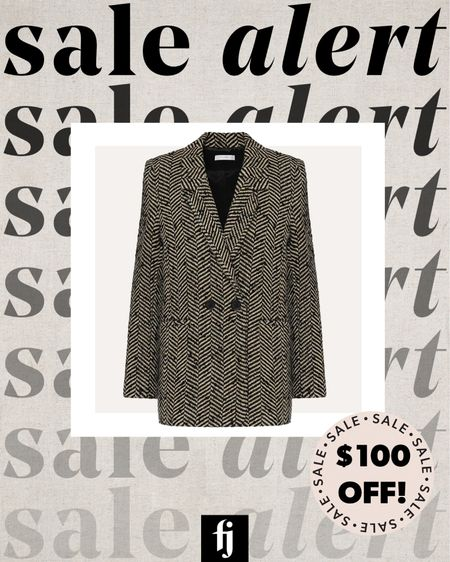 Anine Bing blazer on sale with code SAVEMORE #blazer #falloutfits #businesscasual #workwear   #LTKsalealert #LTKstyletip #LTKworkwear