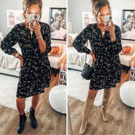 Walmart dresses coming in hot for fall 🍁fall outfit, dresses, boots, combat boots, fashion over 40  #LTKsalealert #LTKunder50 #LTKshoecrush