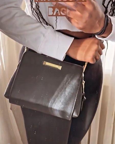 http://liketk.it/31Dp8 #liketkit @liketoknow.it similar Steve Madden black cross body bag with gold hardware