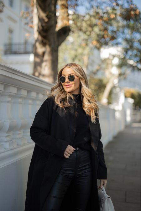 MISSGUIDED Autumn staples 🖤  Classic black coat + black basics