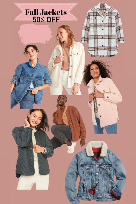 Fall jackets 50% off   #LTKstyletip #LTKSeasonal #LTKsalealert