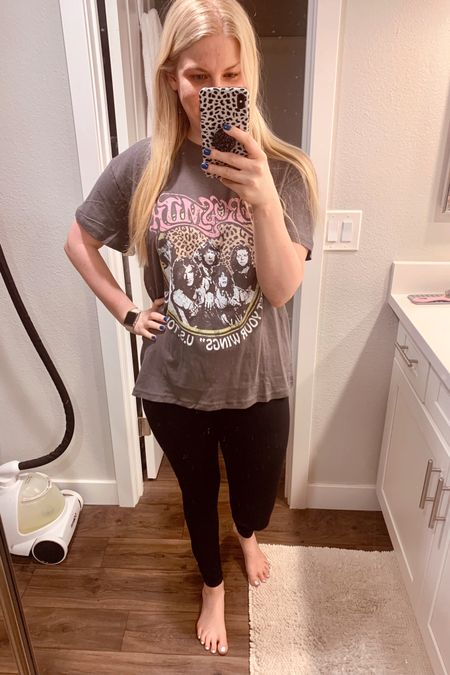 How many band tees is too many? Asking for a friend. 🤪 http://liketk.it/3fCHz @liketoknow.it #liketkit #LTKunder50 #LTKstyletip