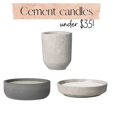 Cement candles! Just like Restoration Hardware, for a fraction of the price!  Citronella candle | home decor | outdoor candle | large candle | Target    Shop your screenshot of this pic with the LIKEtoKNOW.it shopping app http://liketk.it/3iqvx #liketkit @liketoknow.it #LTKunder50 #LTKstyletip #LTKhome