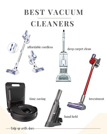 These are my favorite vacuum cleaners  right now. ✨✨✨ Find the best cordless vacuums, corded vacuum, robot vacuum and rechargeable handheld vacuum to easily tackle whatever you need.   #LTKhome