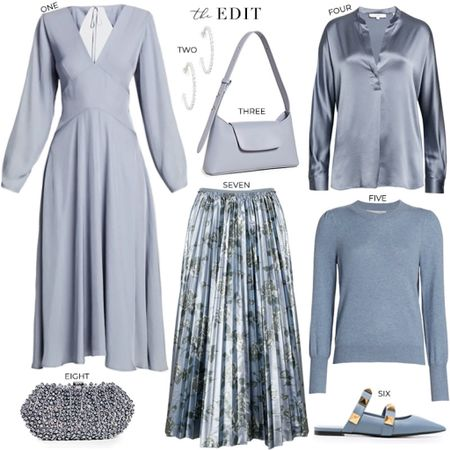 Really loving all the blue-grey pieces I'm seeing right now! Such an unexpected color trend for the coming season 🙌🏼   #tssedited #thestylescribe #winter #fall #blue #styleinspo #classy #polished #luxe   #LTKSeasonal #LTKHoliday #LTKstyletip